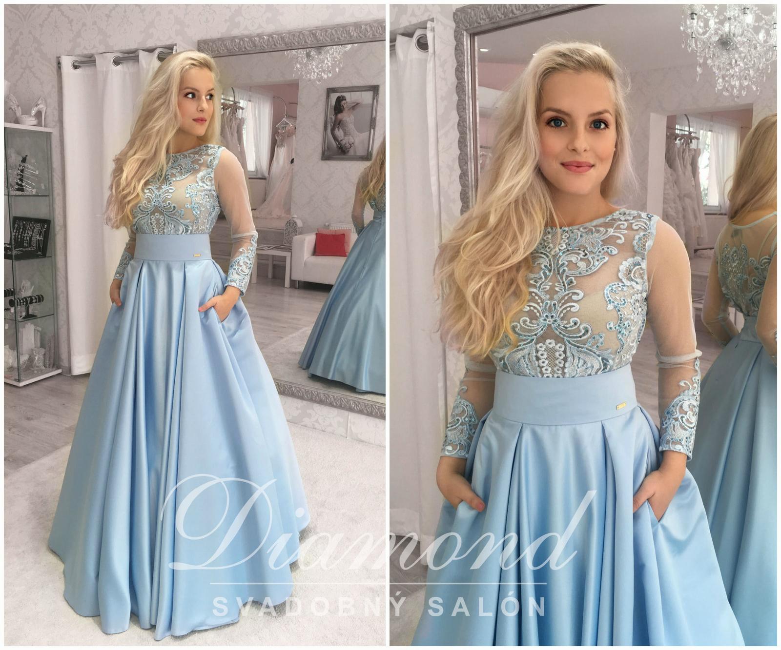 541e537601d8 Štýlová saténová nebeská modrá sukňa