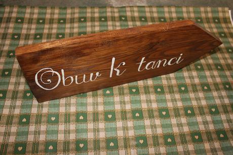 Dřevěná cedule ,