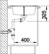 Nerezový drez Blanco TIPO45S Compact,