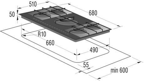 Plynová sklokeramická varná doska Gorenje GT 7 P 2,