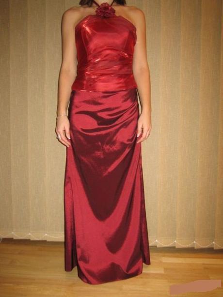 bordové spoloč.šaty, 38