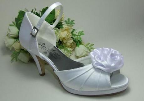 Saténová svatební obuv, 36
