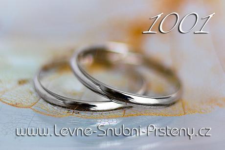 Snubní prsteny LSP 1001b - bez kamene, zlato 14 k.,