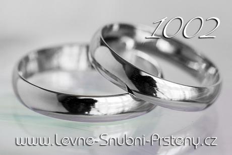 Snubní prsteny LSP 1002b - bez kamene, zlato 14 k.,