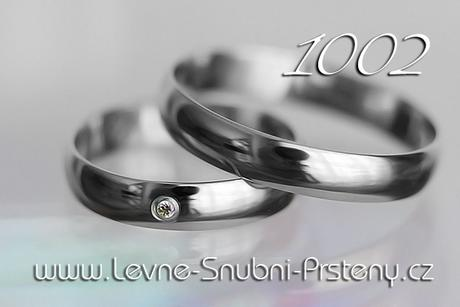 Snubní prsteny LSP 1002b + zirkon, zlato 14 kar.,