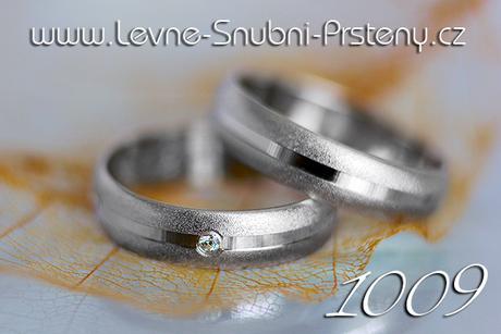 Snubní prsteny LSP 1009b + zirkon, zlato 14 kar.,