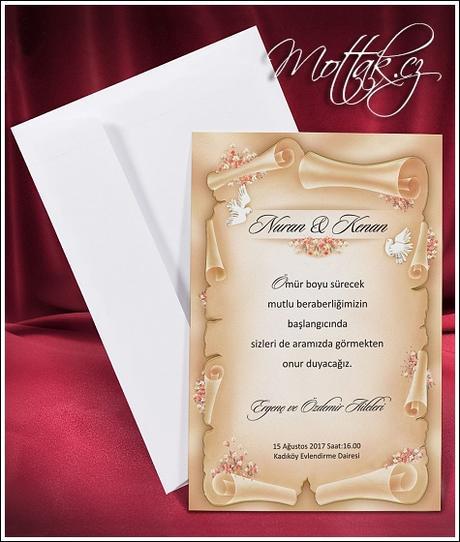 Svatební oznámení 2650 www.mottak.cz,