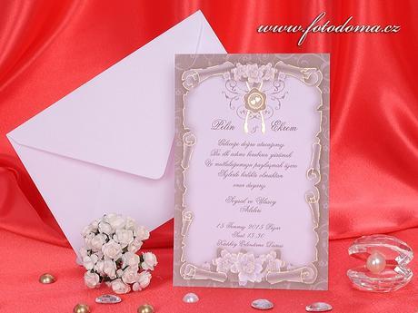 Svatební oznámení 3226 www.fotodoma.cz,