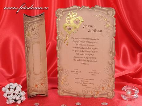 Svatební oznámení 3245 www.fotodoma.cz,