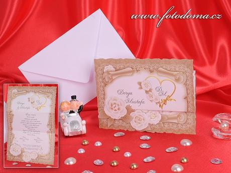 Svatební oznámení 3262 www.fotodoma.cz,