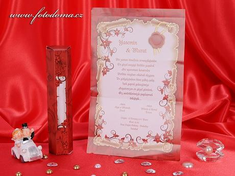 Svatební oznámení 3265 www.fotodoma.cz,