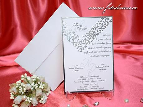 Svatební oznámení 3303 www.fotodoma.cz,