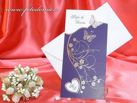 Svatební oznámení 3312 www.fotodoma.cz,