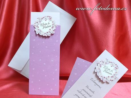 Svatební oznámení 3376 www.fotodoma.cz,