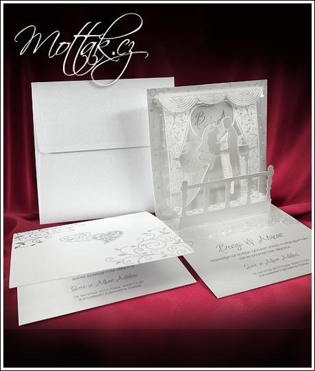 Svatební oznámení 3610 www.mottak.cz,