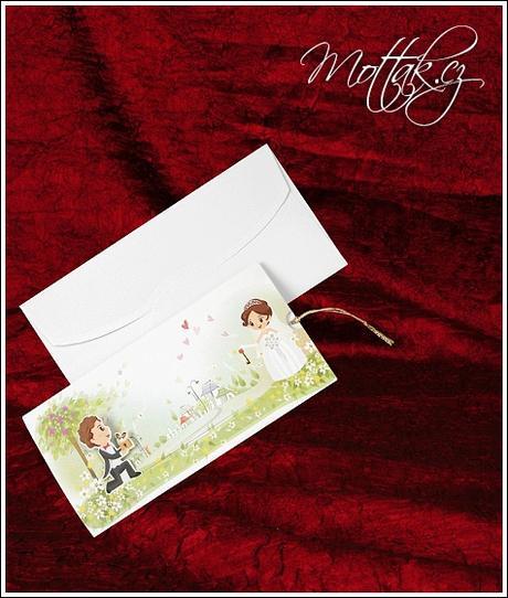 Svatební oznámení 5322 www.mottak.cz,