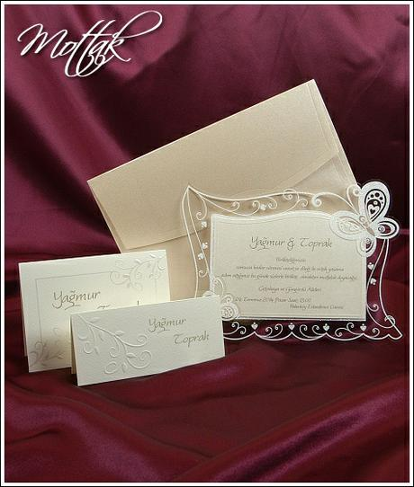 Svatební oznámení s motýlky 3596 www.mottak.cz,
