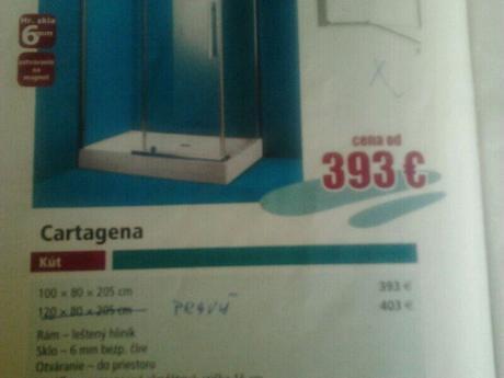 Sprchový kut 100x80,