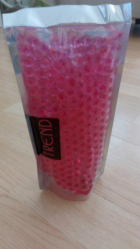 Dekorační gelové kuličky růžové,