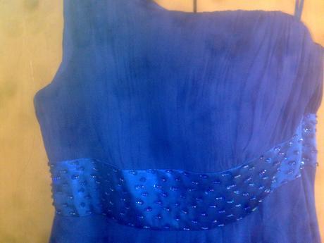 Modré spoločenské šaty 46/48, 46