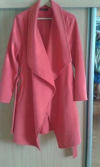 Flaušový jarný kabátik, 40