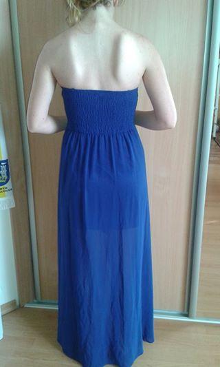Kráľovsky- modré šaty., M