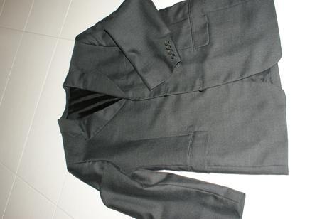 Tmavosivy oblek zn. Ozeta - sako, vesta, nohavice , 48