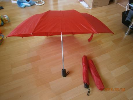 Deštníky červené 2ks,