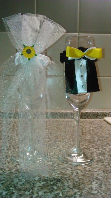 Ozdoby na svatebni skleničky ,