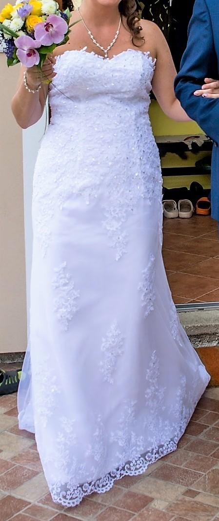 Exkluzivní svatební šaty vel. 40/42, 40