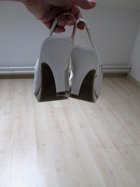 Svatební sandálky, nenošené, 37
