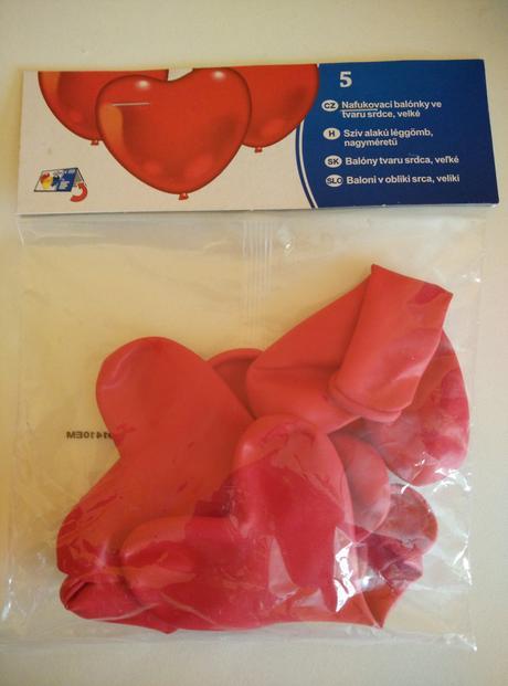 balonky velké srdce,