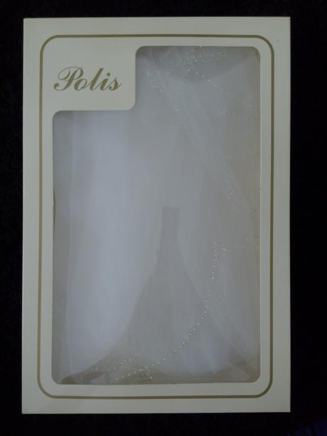 Vrstvený bílý závoj, zdobený kamínky Swarowski,