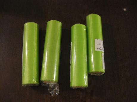 4x balení Zelené organzy,