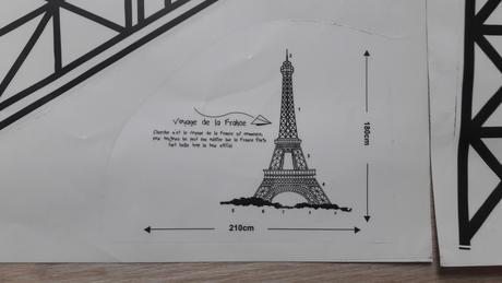 Samolepka na zeď Eiffelova věž,