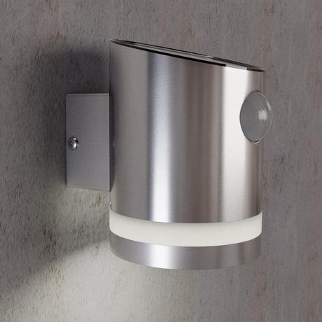Solárna lampa na stenu s pohybovým senzorom,
