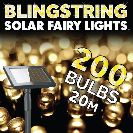Solárna LED reťaz Solarcentre Blingstring 20m,