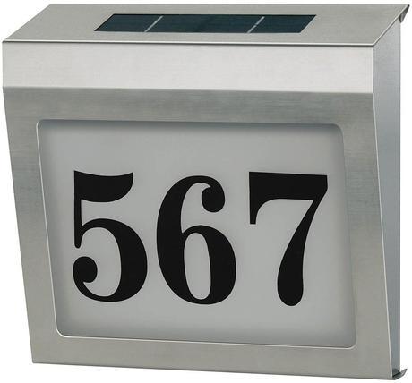Solárne osvetlenie čísla domu,