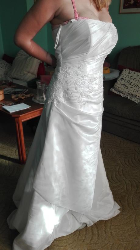 Saténové svatební šaty 38-42 - Zoryana Stekhnovych, 40