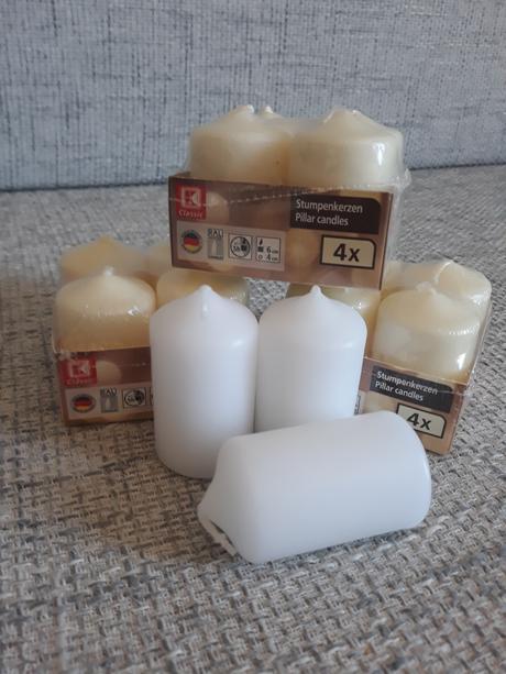 Smetanové svíčky 4x6 cm,