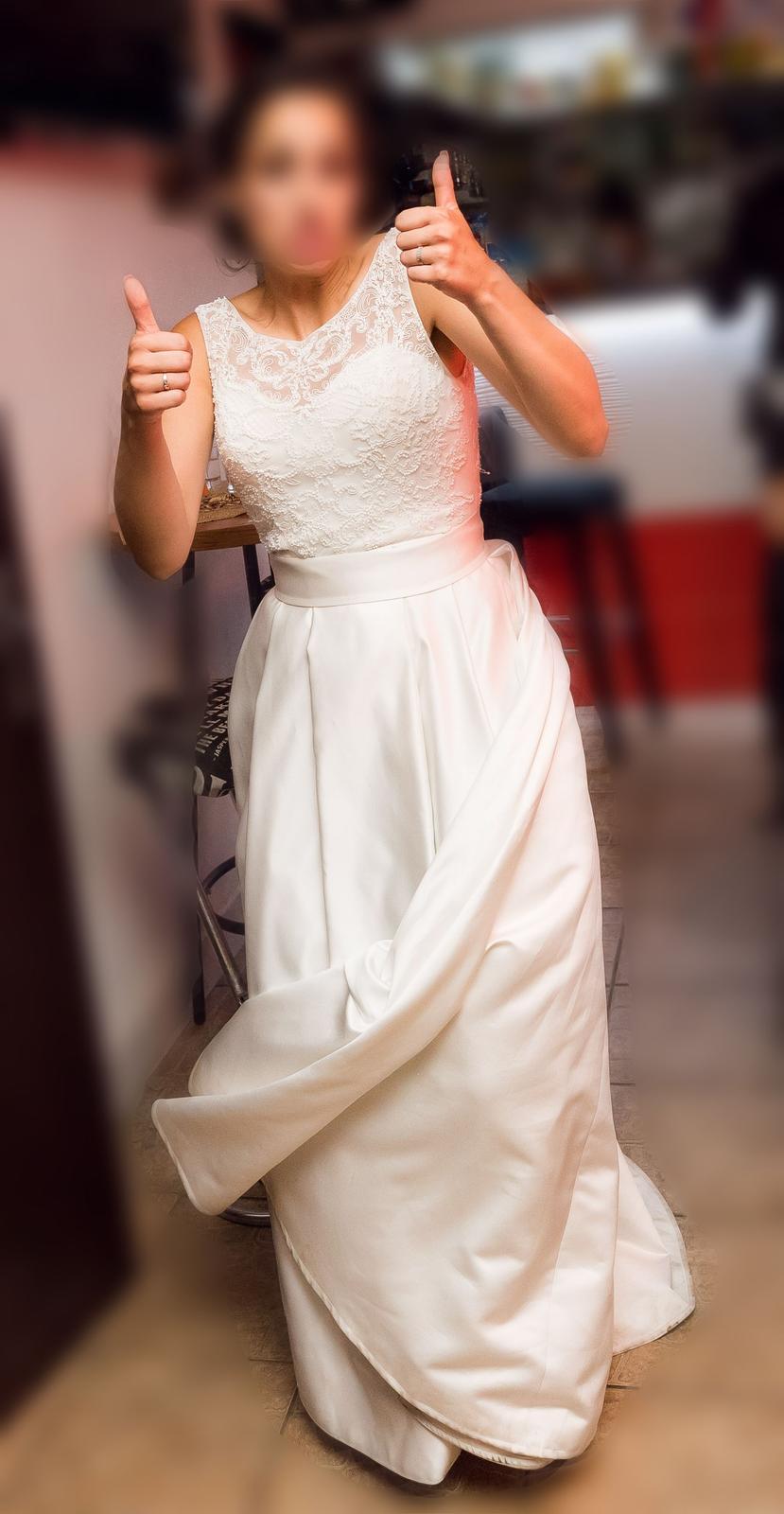 Svadobné šaty s vreckami 7156bd85015