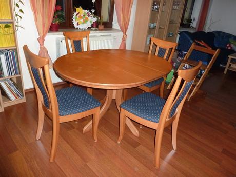 Jídelní stůl bez židlí, barva višeň,
