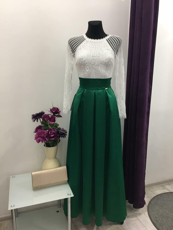 846218dc60c8 Zelená sukňa