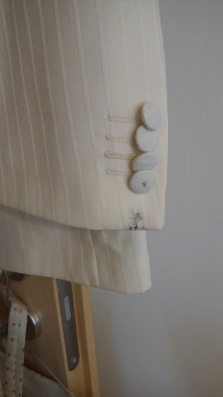 Smotanový svadobný pánsky oblek, 52