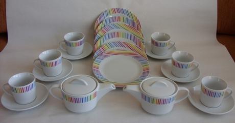 Kávová súprava farebná set    nepoužité,
