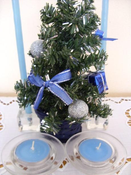 Set vianočný modrý    ,