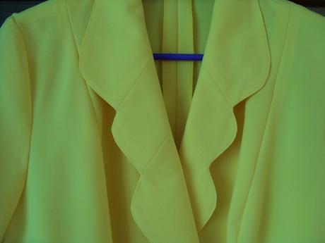 Sukňový kostým žltý    , 42