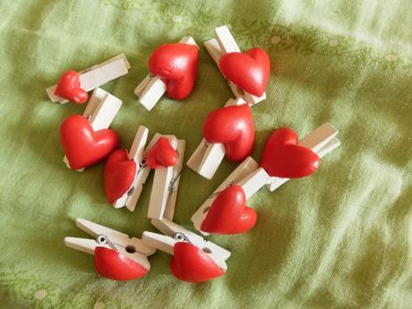Kolíčky se srdíčkem - 3,3 cm,