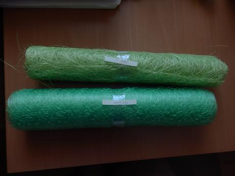 Organza - pavučinka 0,3x9,1m zelená použitá,