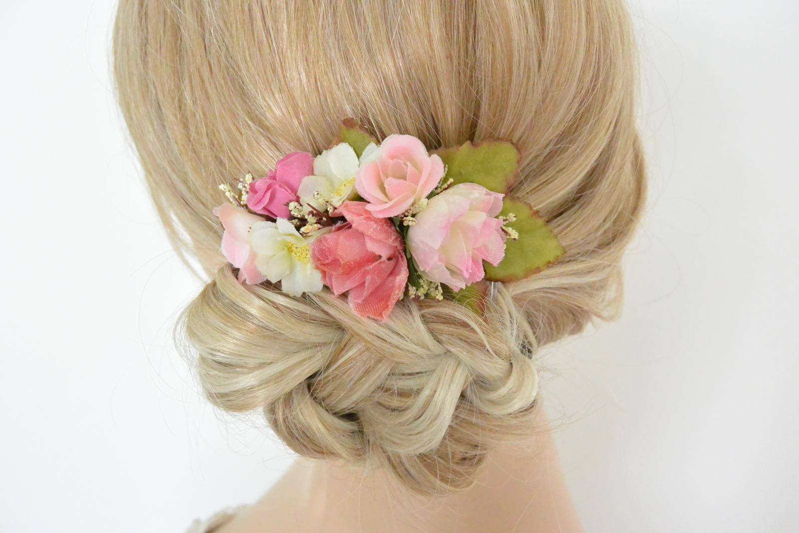 Svatební květinová čelenka c0869beec7